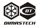 Black and White Transparent DimasTech Sticker