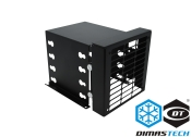 "DUPLICATO - DimasTech® HD Support 3.5"", Special, 4 Slot,  with 120mm Graphite Black Frontal Fan Support"