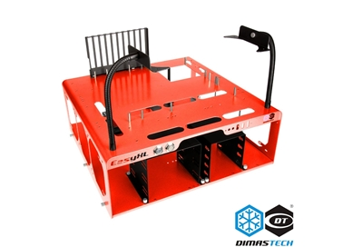 DUPLICATO - GO-Stock - DimasTech® Bench/Test Table EasyXL Spicy Red