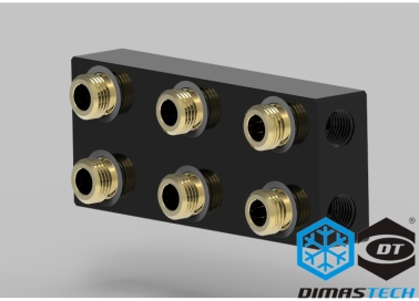 Dimastech® Distribution Plate for XMV-Cool Waterblock - 3 Boards